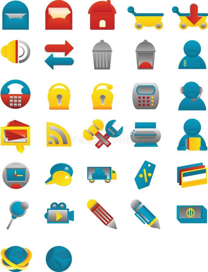 symboler görar slät rengöringsduk royaltyfri illustrationer