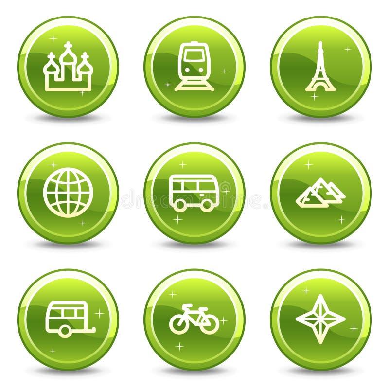 symboler inställd transportlopprengöringsduk royaltyfri illustrationer