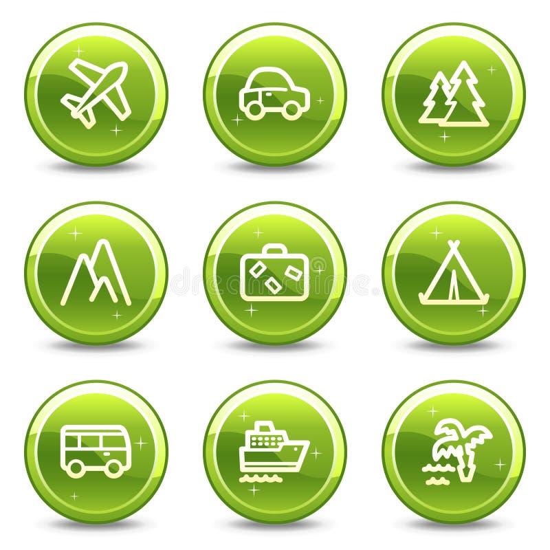 symboler inställd transportlopprengöringsduk vektor illustrationer