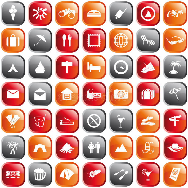 symboler inställt lopp stock illustrationer
