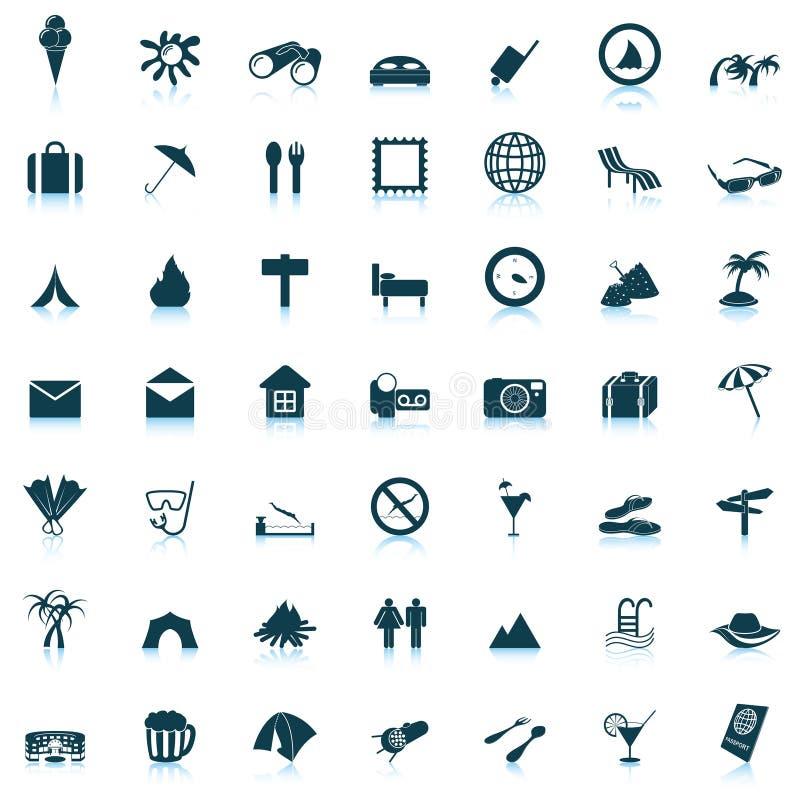 symboler inställt lopp vektor illustrationer