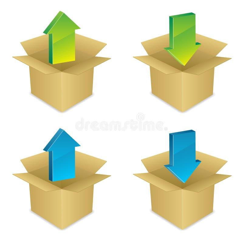 symboler installerar uninstall vektor illustrationer