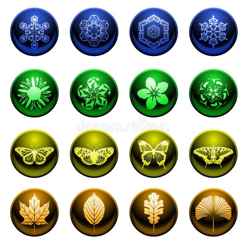 symboler kryddar blankt stock illustrationer