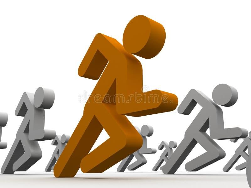 symboler man running stock illustrationer