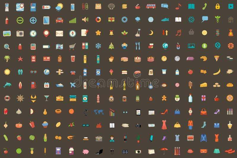 216 symboler på olika ämnen också vektor för coreldrawillustration vektor illustrationer
