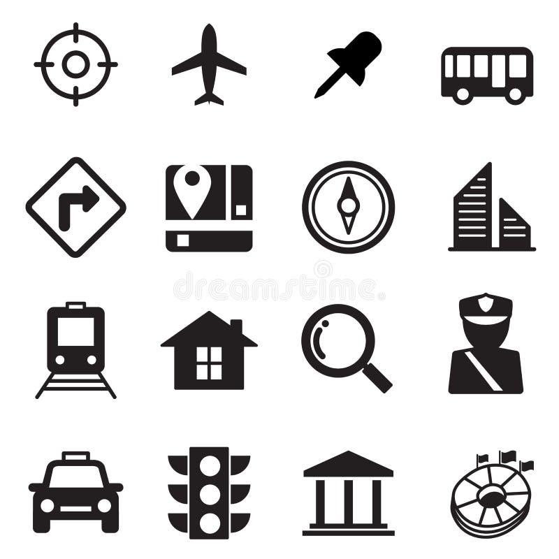 symboler planerar seten vektor illustrationer
