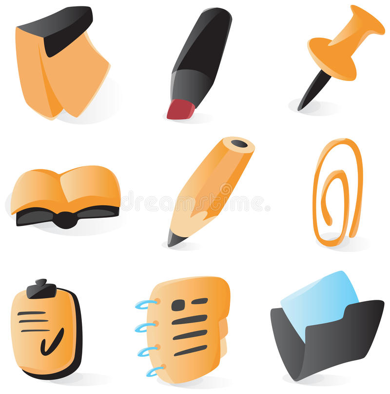 symboler som planerar slätt schema vektor illustrationer