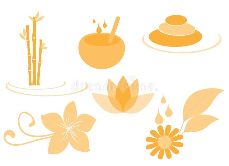symboler ställde in brunnsorten vektor illustrationer
