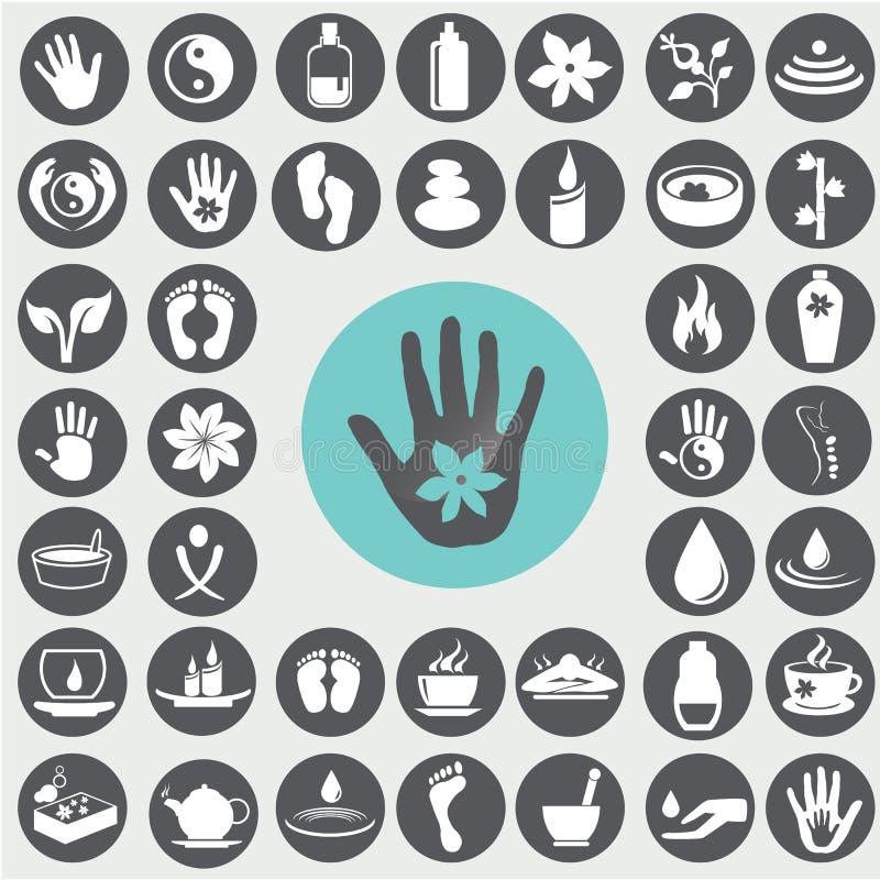 symboler ställde in brunnsorten stock illustrationer