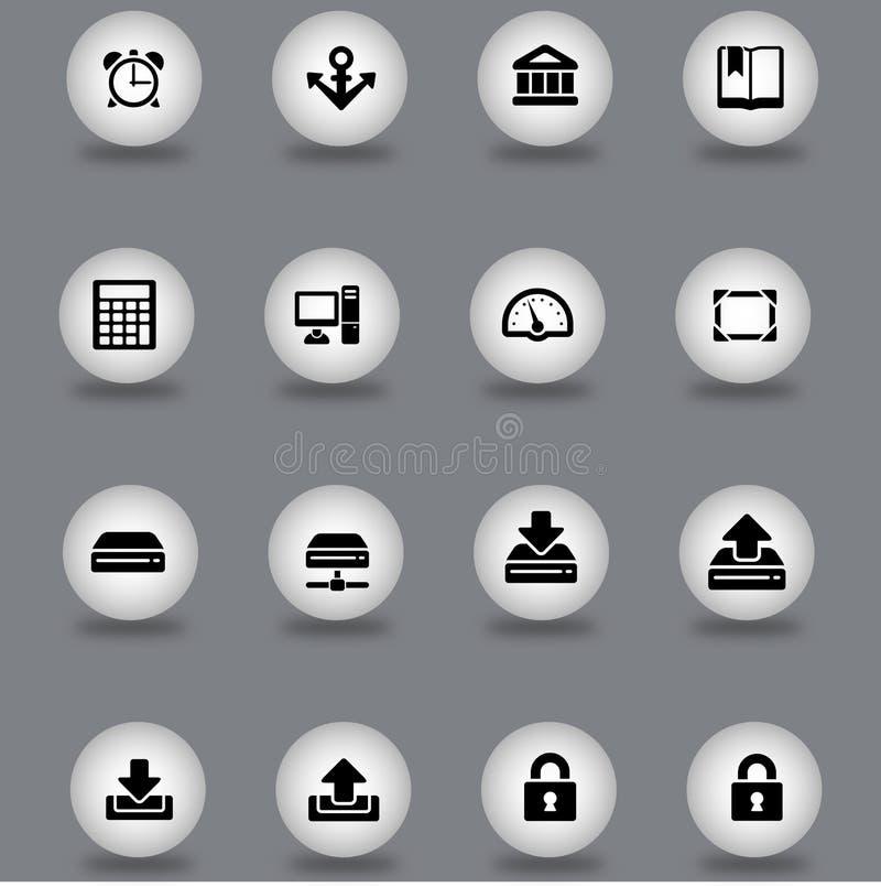 symboler ställde in rengöringsduk royaltyfria bilder