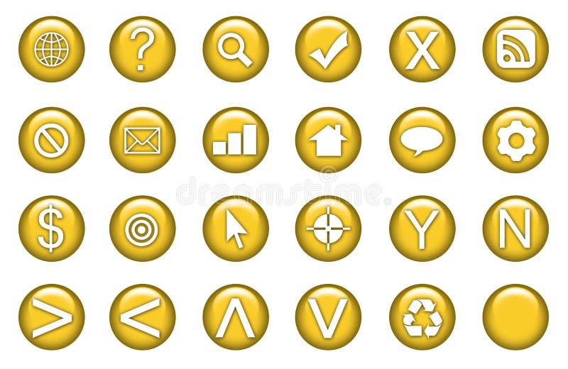 symboler ställde in rengöringsduk royaltyfri illustrationer
