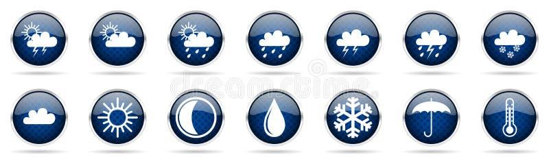 symboler ställde in väder vektor illustrationer