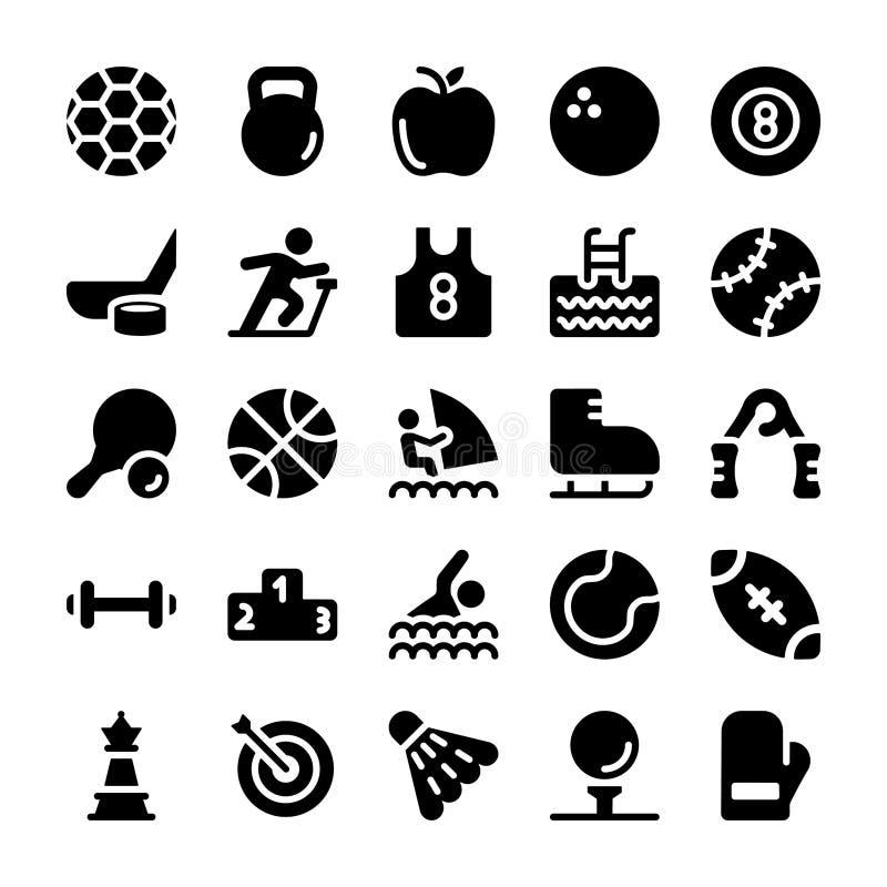 symboler st?llde in sportar vektor illustrationer