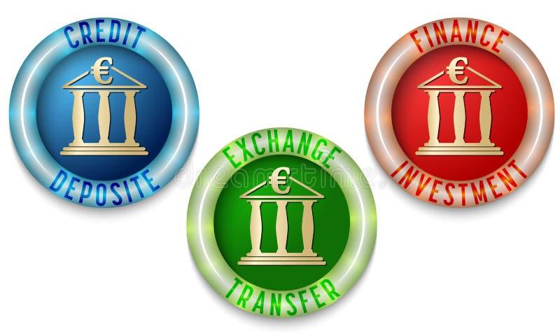 symboler tre royaltyfri illustrationer