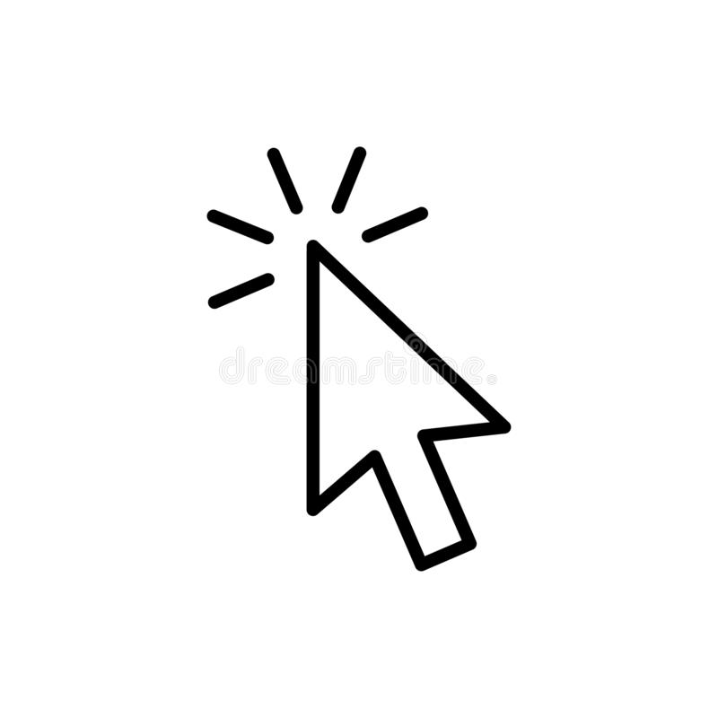 Symboler uppsättning för pil för grå färger för markör för datormusklick och päfyllningssymboler Markörsymbol också vektor för co vektor illustrationer