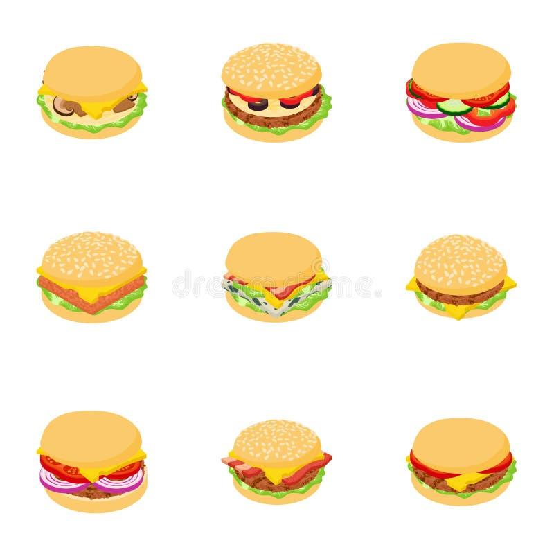 Symboler uppsättning, tecknad filmstil för klubbasmörgås vektor illustrationer