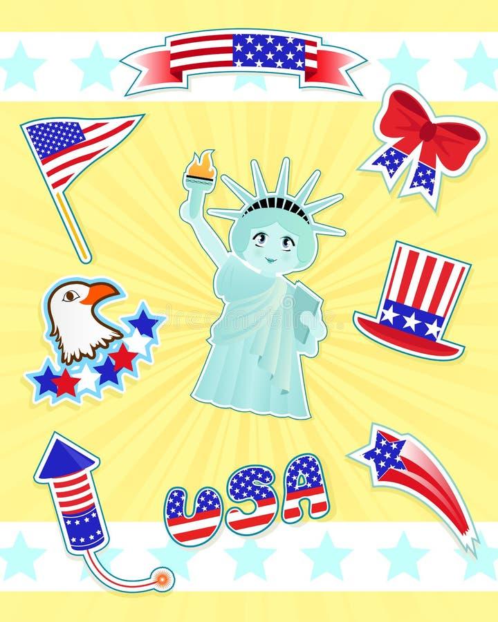 symboler USA stock illustrationer