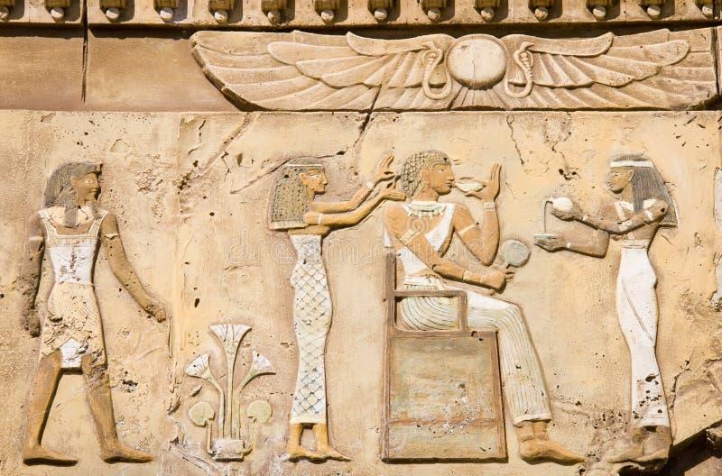 Symboles égyptiens antiques images stock