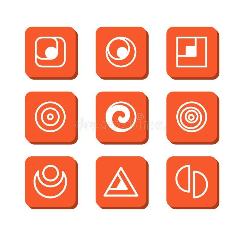 Download Symboles abstraits illustration de vecteur. Illustration du brochure - 45369552
