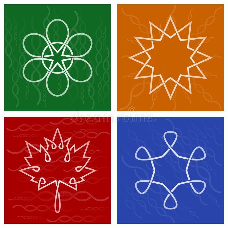 Symboles celtiques de saison illustration libre de droits