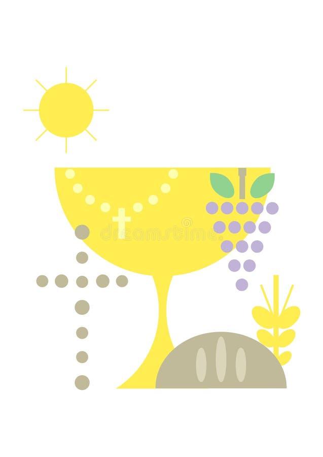 Symboles chrétiens (dernier dîner) illustration libre de droits