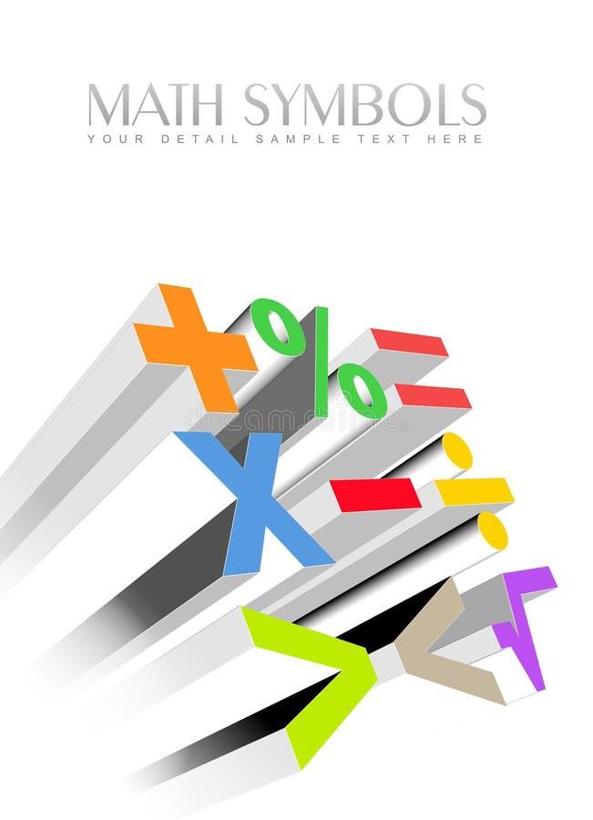 symboles colorés des maths 3d illustration libre de droits