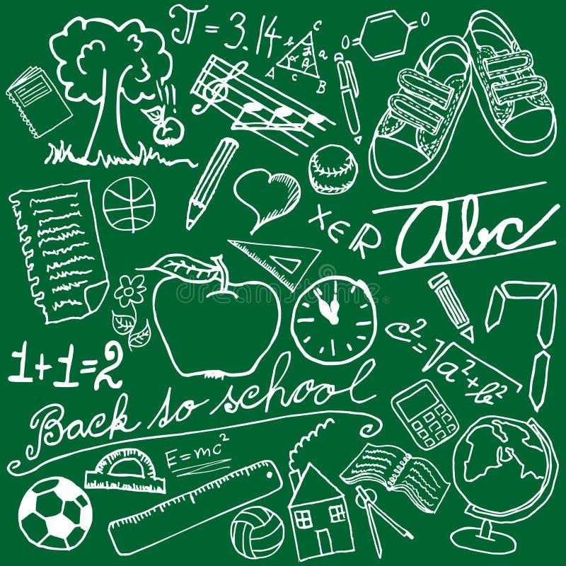 Symboles d'école illustration libre de droits