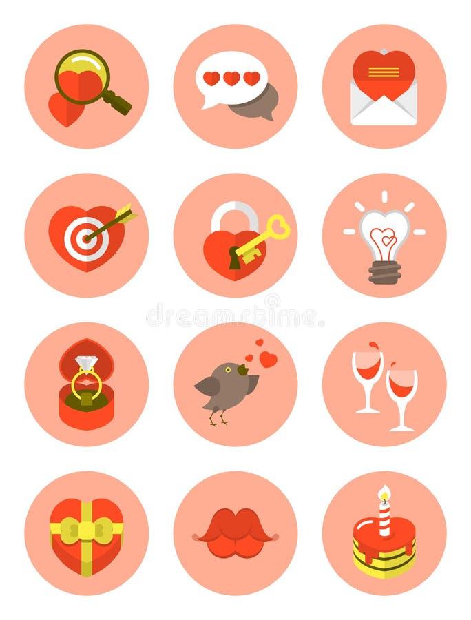 Symboles d'amour illustration stock