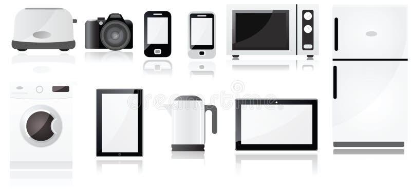 Symboles d'appareils électriques illustration stock