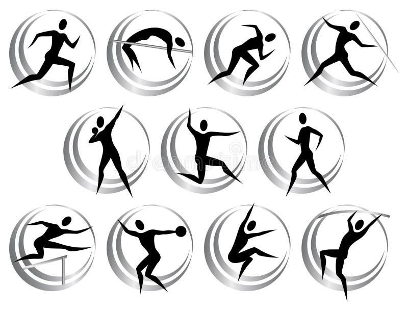 Symboles d'athlétisme illustration libre de droits