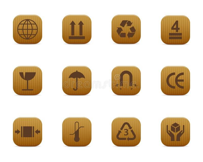 symboles d'emballage illustration libre de droits