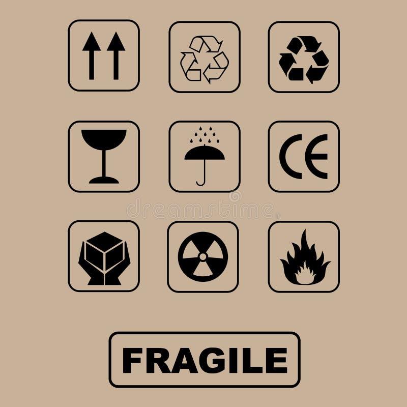 Symboles d'emballage - positionnement illustration libre de droits