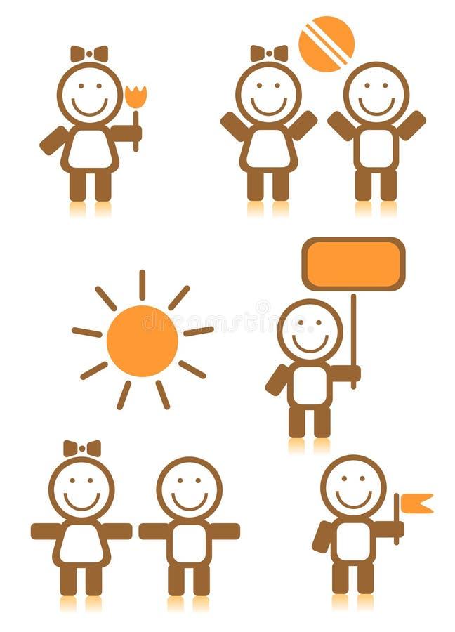 Symboles d'enfants illustration libre de droits