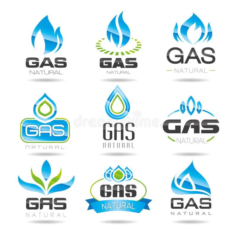 Symboles d'industrie du gaz illustration stock