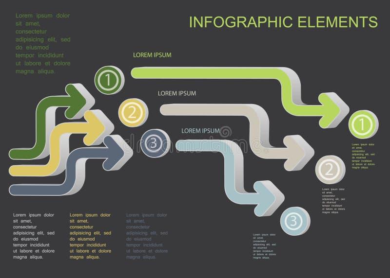 Symboles d'Infographic illustration de vecteur