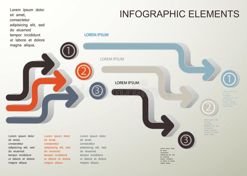 Symboles d'Infographic illustration libre de droits