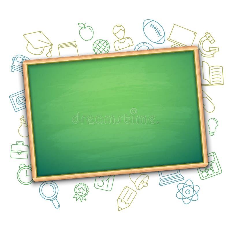 Symboles de conseil pédagogique et d'éducation illustration de vecteur
