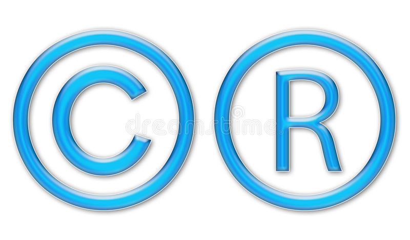 symboles de copyright illustration de vecteur