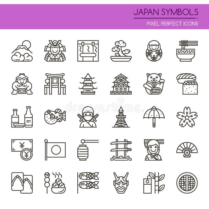 Symboles de culture du Japon illustration stock