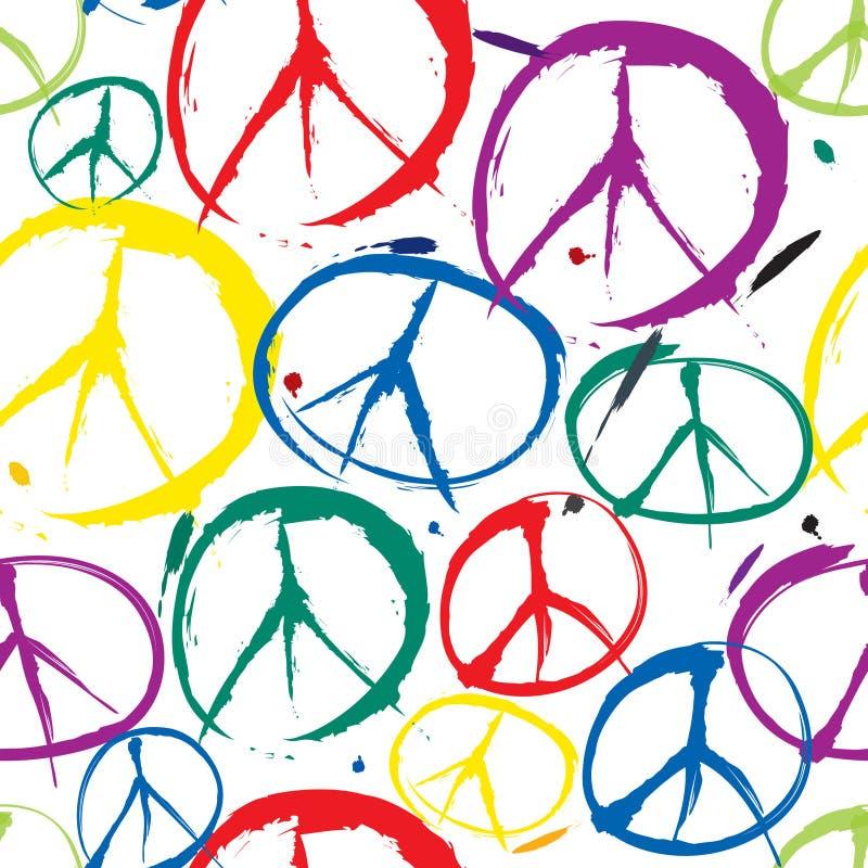Symboles de fond sans joint de paix illustration de vecteur
