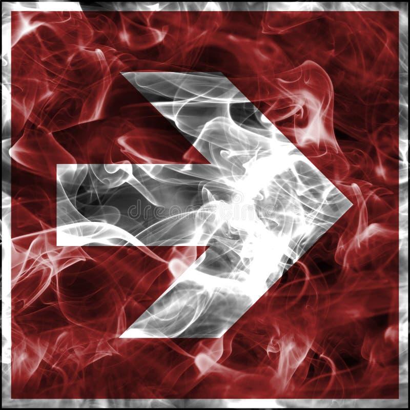 Symboles de fumée de secours pour l'équipement de lutte contre l'incendie Signe standard de sécurité incendie pour la flèche de l illustration stock
