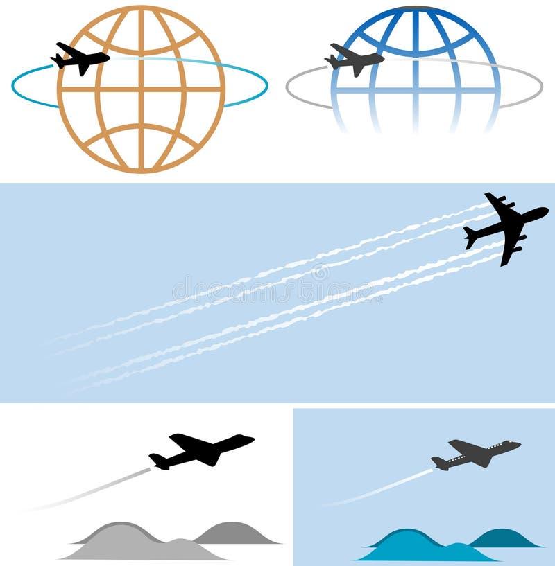 symboles de graphismes d'avion de vol illustration stock