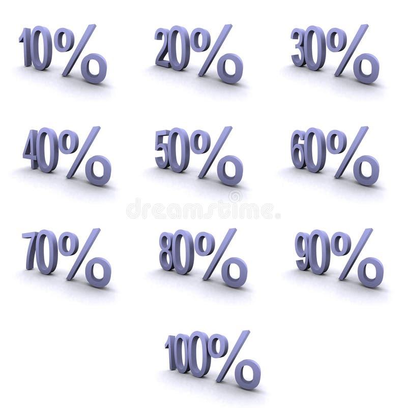 Symboles de haute résolution superbes de pourcentage illustration de vecteur