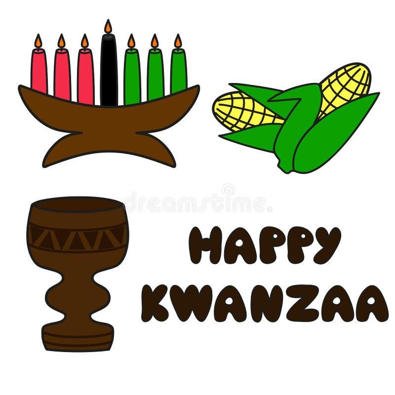 Symboles de Kwanzaa illustration de vecteur
