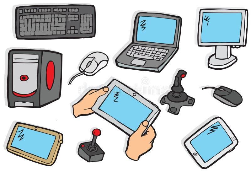 Symboles de l'électronique illustration libre de droits