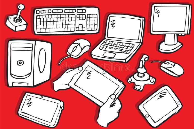 Symboles de l'électronique illustration stock