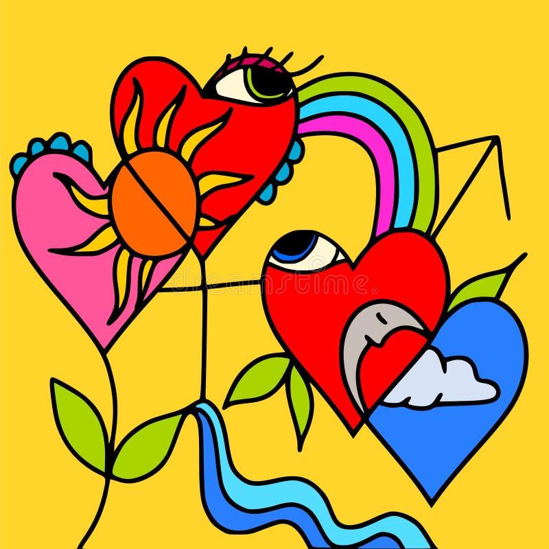 Symboles de l'amour illustration libre de droits