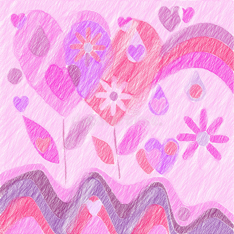 Symboles de l'amour illustration stock