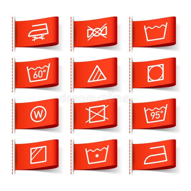 Symboles de lavage illustration de vecteur