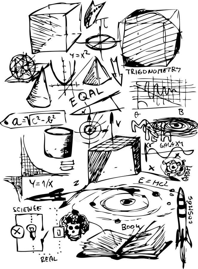 Symboles de maths illustration libre de droits